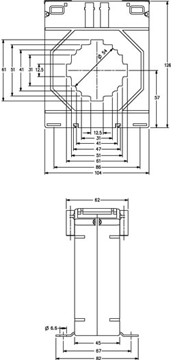 m10460 current transformer oulline drawing