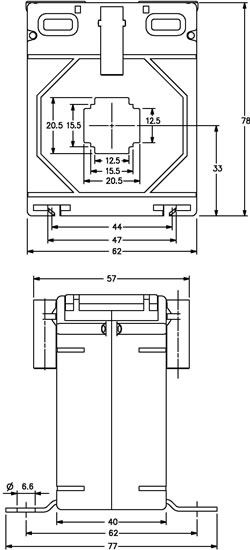 m6220 outline drawing